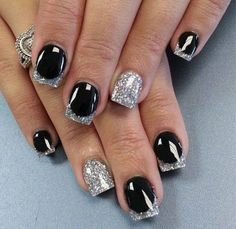 black and silver. love