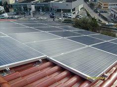 Impianto fotovoltaico ad ANCONA da 5,00 kWp su copertura - 22 moduli ALEO in SILICIO POLICRISTALLINO da 225 Wp