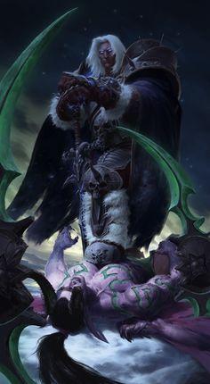 Arthas Menethil vs Illidan Stormrage , JiHun Lee on ArtStation at…