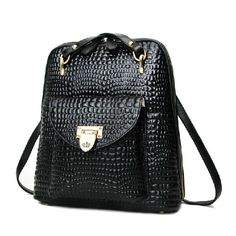 Mochilas de cuero original para notebook bolsas de chicas negras [AL93026] - €66.38 : bzbolsos.com, comprar bolsos online Backpack Bags, Leather Backpack, Leather Bag, Fashion Bags, Fashion Backpack, Cute Bags, Beautiful Bags, Cross Body Handbags, Bag Accessories