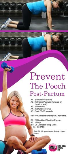 """The Best Pregnancy """"Pooch"""" Preventing Workout – Michelle Marie Fit Maybe its you, maybe you had a few pregnancies and still have that super annoying postpartum pooch. Read here for tips to prevent it. Baby Workout, Prenatal Workout, Pregnancy Workout, Pregnancy Fitness, Pooch Workout, Pregnancy Health, Post Pregnancy, Pregnancy Videos, Pregnancy Books"""