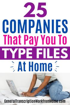 Make money typing audio files and work from home as a transcriptionist. These 25 transcription companies have online transcription jobs for beginners. No transcription experience required. #typingjobs #transcription #onlinejobs #transcriptionwork #transcriptionjobs #workfromhome #remotejobs #sidehustles #makemoneyonline #makemoneyfromhome Transcription Jobs For Beginners, Transcription Jobs From Home, Online Side Jobs, Best Online Jobs, Earn Money From Home, Way To Make Money, Make Money Online, Typing Jobs From Home, Legitimate Work From Home