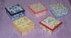 decoupage | Cajas pequeñas con decoupage