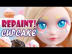 Repaint! Cupcake Sprinkles Custom OOAK Doll Ever After High Apple White - YouTube