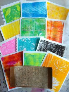 Useful Gelli Plate tips on this page  gelli prints 3