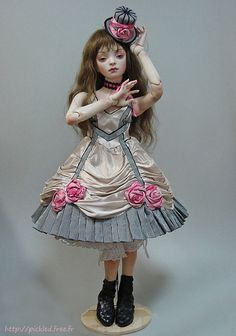 Milk porcelain ball jointed doll by marmite-sue, via Flickr