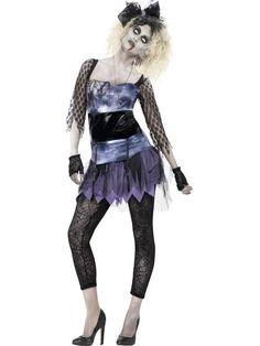 Women's Zombie 80s Wild Child Costume