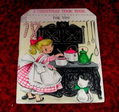 Vintage Unused Hallmark Card Greeting A Christmas Cook Book Recipe Book For You