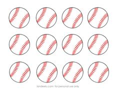 free printable baseball clip art images | Inch Circle Punch or Scissors
