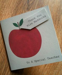 Handmade Personalised Thank You Card especially for your little one's teacher, only £1.29