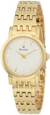 305fd93b202 Relógio Bulova Women s 97L116 Dress Classic Goldtone Watch  Relogios  Bulova