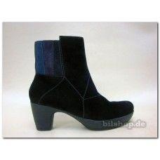 Obermaterial: Crosta Farbe: Schwarz-kombi Futter: Textil 80%Polyesther 20% Wolle Innensohle: wechselbar, pflanzlich gegerbtes Leder Laufsohle: Latex Absatzhöhe: 6 cm, ca. 2 cm Plateau Reißverschluss, PU-Sohle Der Schuh ist für lose Einlagen geeignet ! The inner sole is replaceable The shoes are suitable for orthopedic soles  #THINK #DamenStiefeletten #damenSchuhe #Stiefeletten