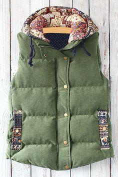 cute printed vest