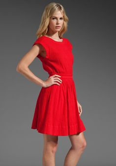 MARC BY MARC JACOBS Aliyah Crinkled Cotton Dress in Skipper Red at Revolve Clothing - Free Shipping!