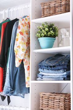 My *NEW* Closet! - Not JUST A Housewife  How to build a closet from scratch AND a tutorial on how to build bypass sliding closet doors!