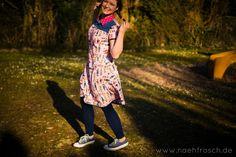 Nähfrosch Schnittmuster Dolores von Milchmonster Blusenkleid Kragen Webware