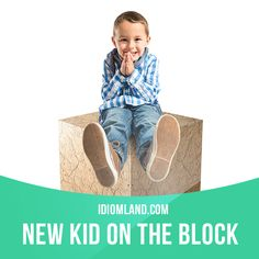 """""""New kid on the block"""" is someone who is new in a place or organization…"""