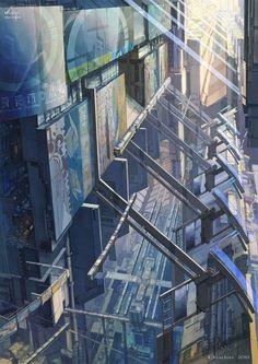 中央駅・空中回廊 2010年6月製作 by K,Kanehira