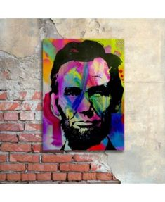 Trademark Global Dean Russo 'Abraham Lincoln I' Floating Brushed Aluminum Art - 16 Pop Art Colors, Dean Russo, Pop Art Portraits, Favorite Subject, Surf Shop, Abstract Pattern, Eyeshadow Makeup, Abraham Lincoln, Art Pieces