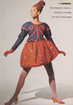"""UK Vogue April 1988 """"Paris Couture"""" Models: Christy Turlington & Linda Evangelista Photographer: Arthur Elgort"""