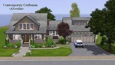 A fully furnished and landscaped contemporary craftsman house for your sims to call home - it features 3 bedrooms, 3 bathrooms, open plan living, dining and study, laundry room and a 2 car attached garage with bonus hobbies room above. The spacious yard, complete with a pool, fire pit, barbeque and edible garden patch is the perfect place to entertain during summer. Suited for a family of 4 (but could fit 5) and a small dog or cat.