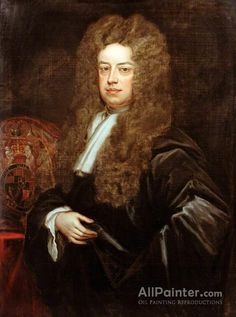 Sir Godfrey Kneller, Bt. John Somers, 1st Baron Somers oil painting reproductions for sale