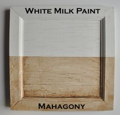 Mahagony Burnishing Glaze Sealer over White Real Milk Paint panel
