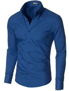 Men's Dress Shirts Slim Fit Long Sleeve High Button down Collar Cotton, Polyester High quality of workmanship; All men's shirts are designed and produce Slim Fit Dress Shirts, Shirt Dress, Shirt Sleeves, Long Sleeve Shirts, Mens Designer Shirts, Camisa Formal, Mens Clothing Styles, Types Of Sleeves, Shirt Style