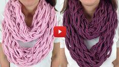 Comment tricoter une écharpe sans aiguilles ! • Mes échantillons Gratuits
