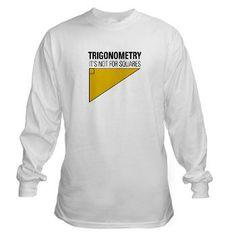 Trig Square Long Sleeve T-Shirt #tshirt #math #funny