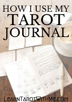 How I use my tarot journal for daily planning & goal-setting, from Angie at Learn Tarot With Me.