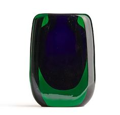 Hermann Bongard, Glass Vase for Hadeland Murano Glass, Fused Glass, Modern Contemporary, Modern Design, Vintage Vases, Shades Of Green, Glass Art, Design Inspiration, Sculpture