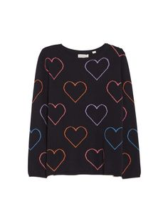 Chinti & parker Heart Outline Sweater in Blue (Navy Multi)