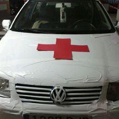 Disfraz completo con ambulancia. Pat pat pat