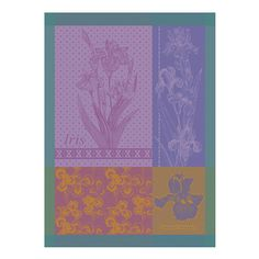 Iris Violine Kitchen Towel ($21) ❤ liked on Polyvore featuring home, kitchen & dining, kitchen linens, cotton tea towels, purple kitchen towels, flower stem and cotton kitchen towels