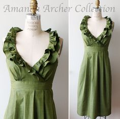 Hey, I found this really awesome Etsy listing at https://www.etsy.com/listing/72372551/green-olive-dress-bridesmaid-made-to