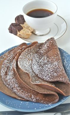 Chocolate Crepes  Make extra and freeze for later use when company comes over -quick easy dessert.