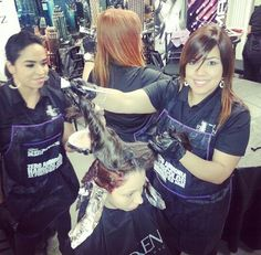 Redken University hands on