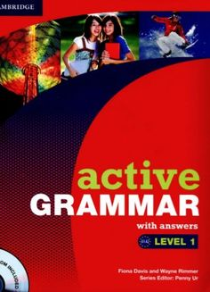 Active Grammar Level 1 with Answers and CD-ROM (Active Grammar With Answers) English Tips, English Fun, English Book, English Class, English Words, English Lessons, Learn English, English Language, English Grammar Worksheets