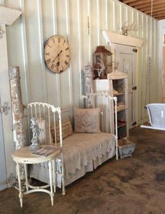 ❥ Angela Greene's converted crib! Love it... via Simply Southern at Heart on FB