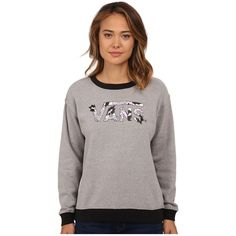 Vans Eley Kishimoto Drop V Crew Women's Clothing ($48) ❤ liked on Polyvore featuring tops, t-shirts, white t shirts, white tops, long sleeve crew neck t shirts, long sleeve tee and white long sleeve t shirt