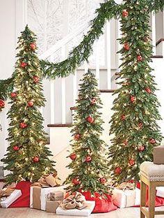 down swept slim pine skinny christmas treechristmas - Slim Christmas Trees