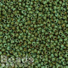 £2.09 Beads Japanese Toho seed 11 hybrid turquoise picasso