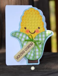 """Jaded Blossom January Release Hop, HERE Just made a """"corny"""" card with my Cricut for the FCCB Challenge, Use a Sentiment . The card is f. 3d Cuts, Alphabet Letter Crafts, Create A Critter, Scrapbook Cards, Scrapbooking, Cricut Cards, Cricut Creations, Fall Cards, Funny Cards"""