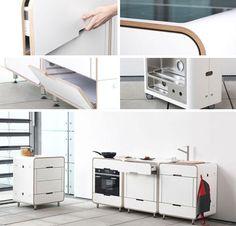 mini portable kitchen details