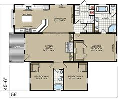 Tennessee Manufactured Home Floor Plans - Innovation HE 9000T Multi-Section