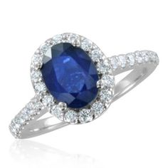 Sapphire Engagement Ring in 14k White Gold Halo Diamond Ring (G, SI1, 2.09 cttw), 8x6mm, Certificate of Authenticity My Love Wedding Ring,http://www.amazon.com/dp/B0057IQF1S/ref=cm_sw_r_pi_dp_kLRPrb866B1641BB