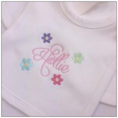 Your place to buy and sell all things handmade Baby Girl Gifts, New Baby Gifts, Personalized Toddler Backpack, Swirly Fonts, Personalised Baby, 1st Birthdays, Baby Bibs, Christening, My Etsy Shop