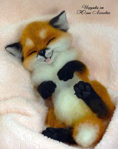 Needle felted fox was sold some months ago. He was inches high with black German glass eyes Needle felted fox Baby Animals Super Cute, Cute Little Animals, Cute Funny Animals, Cute Animal Drawings, Cute Drawings, Felt Animals, Animals And Pets, Felt Fox, Baby Animals Pictures