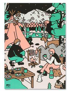 텐바이텐 10X10 : A5 노트 - Camping